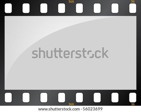 Filmstrip background - stock vector