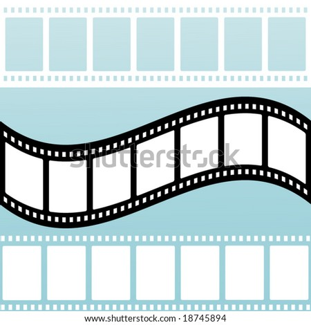 filmstrip -choices:  cutout- wave-solid - stock vector