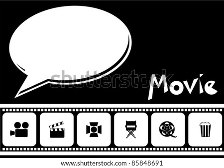 filmstrip movie background - stock vector