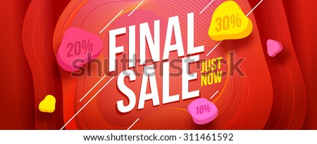 Final sale banner design. Sale and discounts. Vector illustration - stock vector