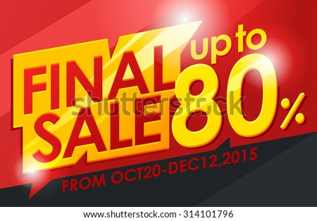 Final sale banner.Vector illustration - stock vector