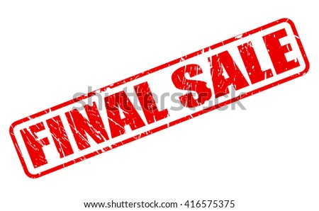 FINAL SALE Red Stamp Text On White
