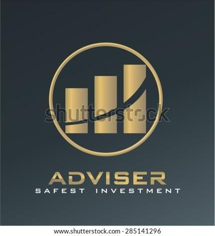finance adviser logo vector - stock vector