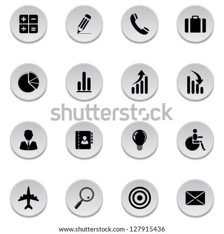 Finance and business icons - stock vector