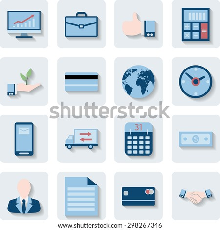Finance and Business Icons. Modern Web Collection Isolated on white background. Illustration. Vector EPS10. - stock vector