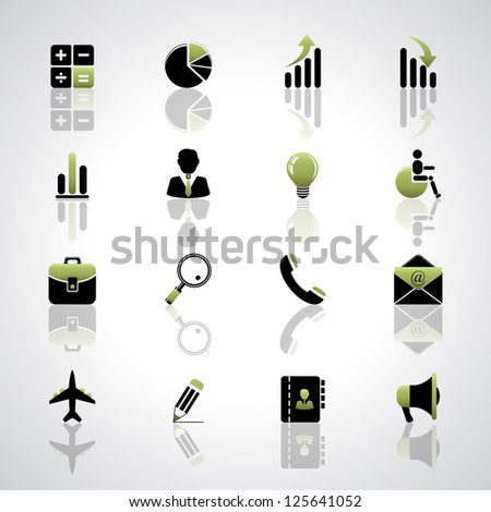 Finance and business icons set - stock vector