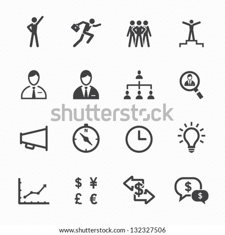Finance and Human Resource Icons with White Background - stock vector