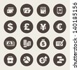 Finance and money theme icons set - stock photo
