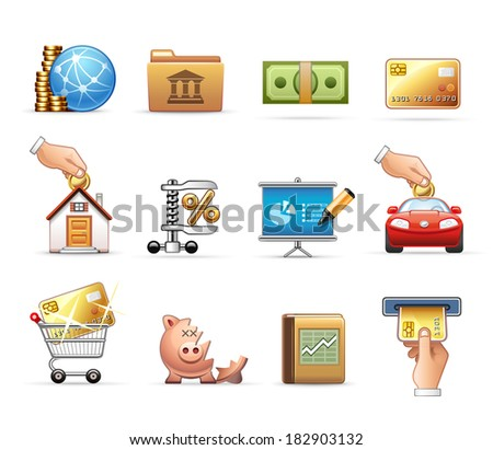 Finance and Savings - stock vector