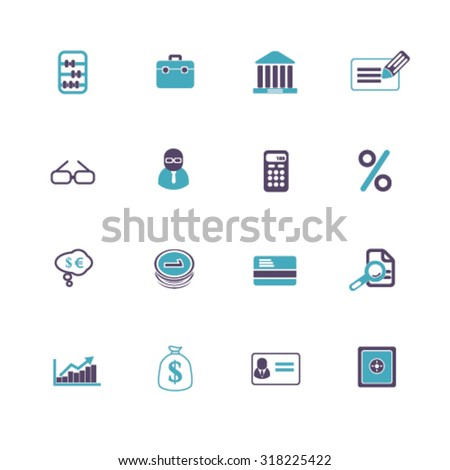 finance, bank icons - stock vector