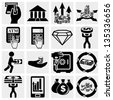 Finance, banking and money vector icons set. - stock vector