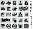 Finance & banking icons set. - stock photo