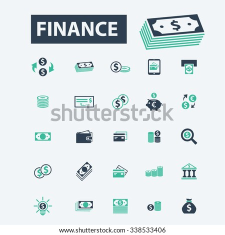 finance, banking, money, investment  icons, signs vector concept set for infographics, mobile, website, application  - stock vector