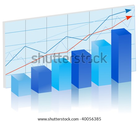 finance  bar graph - stock vector