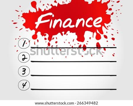 Finance blank list, business concept - stock vector