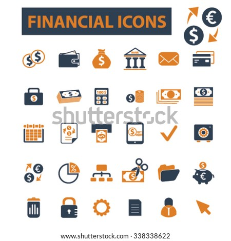 finance, coins, bank, credit, savings, investment  icons, signs vector concept set for infographics, mobile, website, application