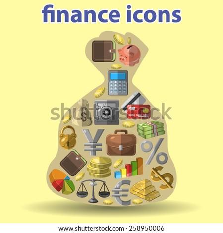Finance composition - stock vector