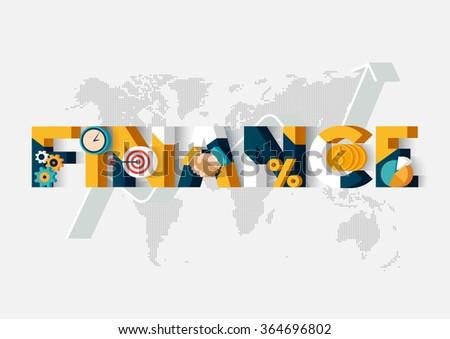 Finance concept. Typographic poster. - stock vector