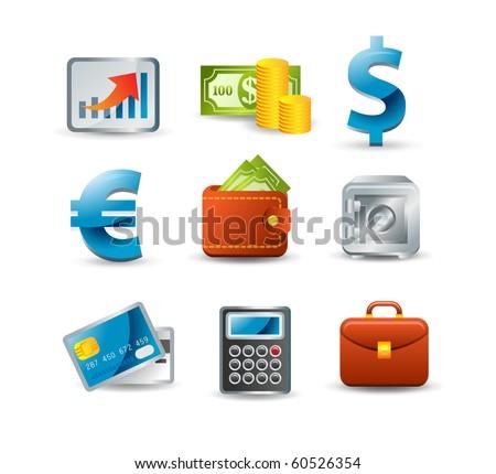 Finance icon set - stock vector