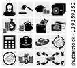 Finance icon set.Money Icon Set, vector - stock photo