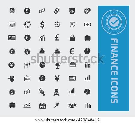 Finance icon set,vector - stock vector