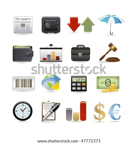 Finance icon set. Vector illustration - stock vector