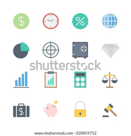 finance icons set - stock vector