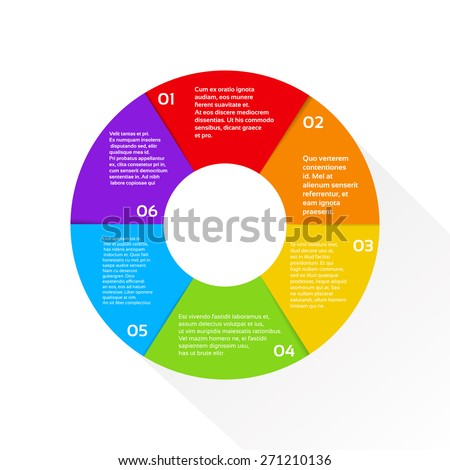 Finance Pie Diagram Circle Infographic with Financial Business Graph Set Vector Illustration - stock vector