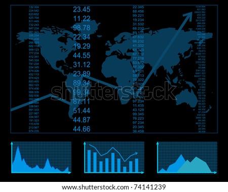 finance report - stock vector