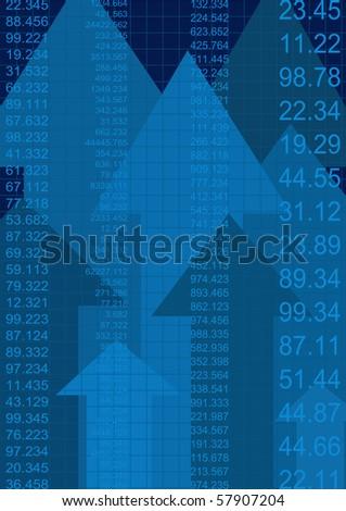 finance report, vector - stock vector