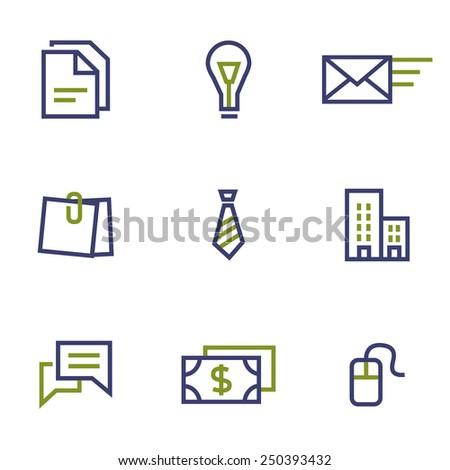 Finance, stock and market symbol line icon on white background vector illustration - stock vector