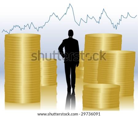 finances - stock vector