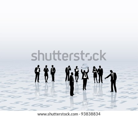 financial advice - stock vector