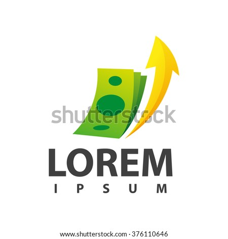 Financial adviser sign design layout. Business and finance creative icon concept. Money symbol template - stock vector