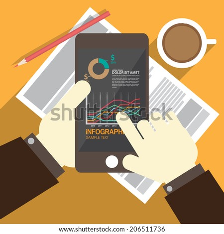 financial chart business - stock vector