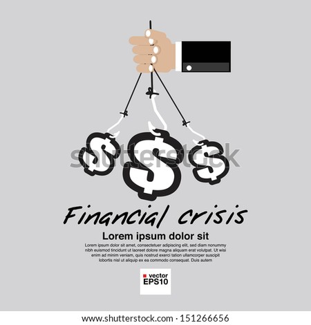 Financial Crisis Conceptual Illustration Vector.EPS10 - stock vector