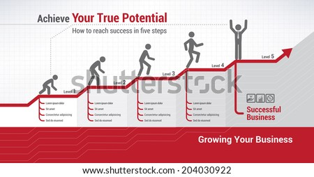 Financial evolution - stock vector
