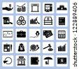 financial icon set, banking and money icon set - stock vector