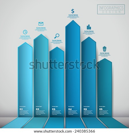 financial infographic template design with statistic element - stock vector