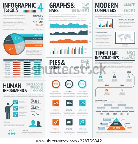 Financial infographics and finance graphic vector elements - stock vector