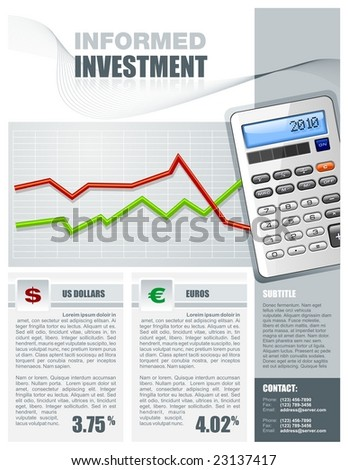 Financial Investment Brochure - stock vector