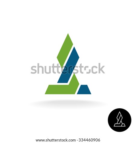Financial logo concept. Force link connection monumental sign. Power of two sides. Synergy symbol. Arrow grow up sign. - stock vector