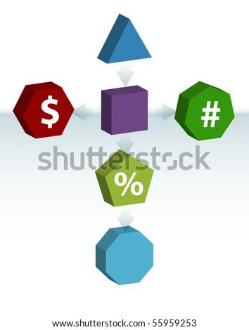 Financial Map - stock vector