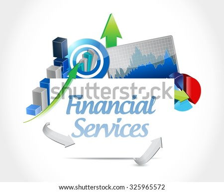 financial services business board sign concept illustration design graphic