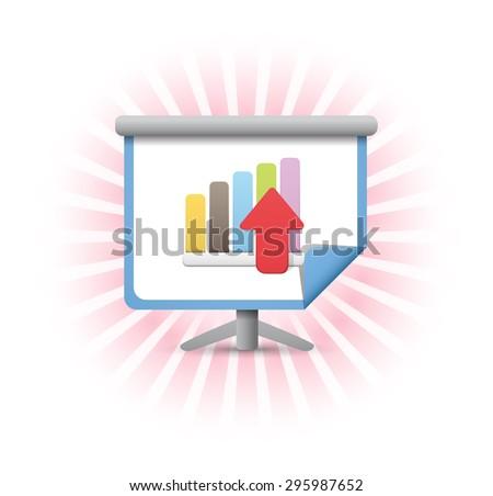 Financial Statistics Rising - stock vector