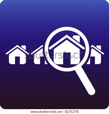 Find a home - stock vector