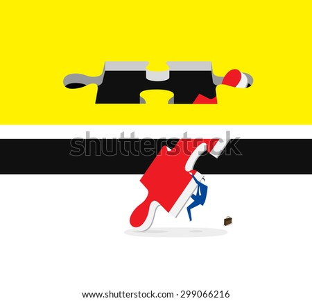 Find a way out - stock vector