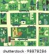 find alphabet on a seamless cartoon map - stock vector