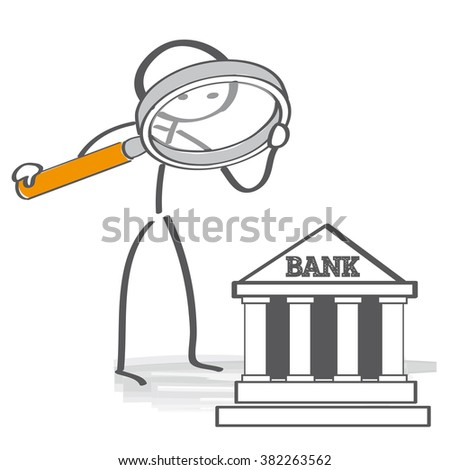 Find and compare the best banks - vector illustration - stock vector