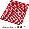 Find the way out from this 3D maze - stock vector
